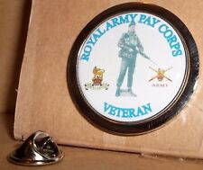 HM Armed Forces The Royal Army Pay Corps Veteran Lapel pin badge.