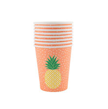 Sass & Belle Tropical Summer Pineapple Paper Cups 8 Pieces Party Tableware Drink