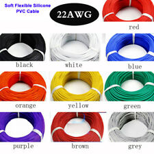 10 COLOURS - 22AWG Soft Flexible Silicone Cable for RC Toys, Hobby, Electronics