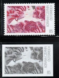 2021 Austria Young Art A. Czernin Painting MNH stamp + rare blackprint