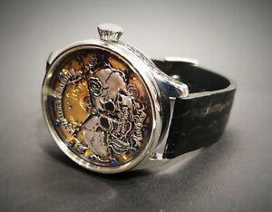 Vintage Rolex Handicraft Engraved Marriage Watch Wristwatch Pocket Watch Movemen