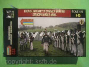 1:72 Strelets #222 Napoleon Frankreich Soldaten angetreten Sommer Uniform
