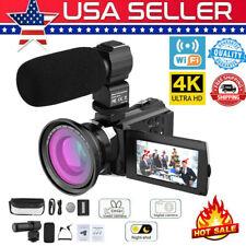 4K WiFi ULTRA HD 1080P 48MP 16X ZOOM Digital Video Camera DV Camcorder+Mic X3I4