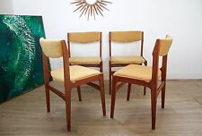 DELIVERY £60 Mid Century Retro Danish Teak 4 Dining Chairs Mustard