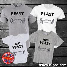 Beast, Mini Beast Matching T-shirts, Dad, Mum, Kids, Men's, Ladies, Set, Gym