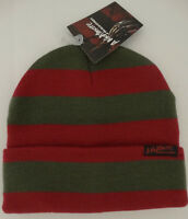 Nightmare on Elm Street Freddy Krueger Horror Movie Beanie Knit Cuff Hat Nwt