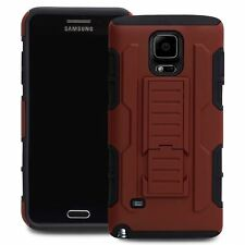Protective Heavy Duty Case For Samsung GALAXY Note 4 Future Armor Cover Red
