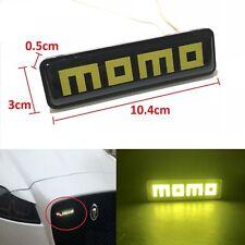 Momo Logo LED Light Car Front Grille Emblem Badge Illuminated Decal Sticker