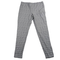 La Senza Gray & White Stretch Leggings Women's Size Large