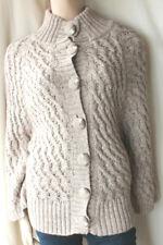 Marks and Spencer Cream Alpaca Chunky Knit Kimono Cardigan Veste Taille 12-14