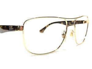 Ray Ban RB3533 001/13 Men's Gold & Tortoise Aviator Rx Eyeglasses Frames 57/17
