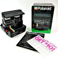 Vintage Polariod One Step 600 Land Instant Camera Rainbow Edition Strap Unused