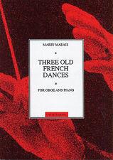 Marin Marais tres danzas Francés Antiguo aprender a jugar Oboe piano Partituras Libro