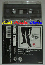 MC BARRY LYNDON O.S.T. stanley kubrick 1976 WARNER 7599-25984-4 cd lp dvd vhs