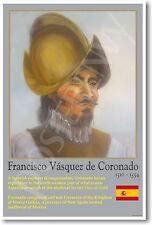 Spanish Explorer Coronado - Social Studies History Classroom NEW School POSTER