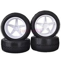 RC 1/10 Off-Road Car Buggy Front&Rear Grain Tyres Tires &Wheel Rim 6601AS