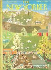 1961 Ilonka Karasz New Yorker Art COVER ONLY School Children at Country Farm