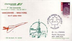 4001+ CONCORDE 1er VOL  VANCOUVER  NEW YORK