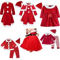 US Christmas Clothes Dress Toddler Boys Girls Santa Costume Party Cosplay Outfit