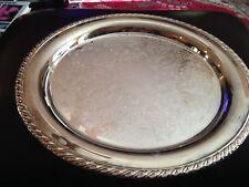"14 1/2"" Oneida Round Silver Plate Tray"