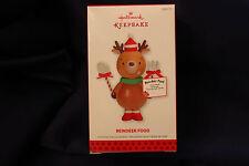 Hallmark Keepsake Christmas Tree Ornament Raindeer Rain Deer Food 2013