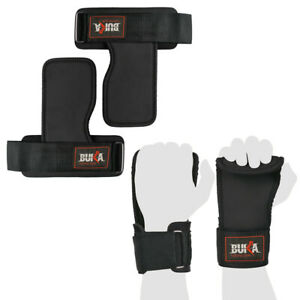 BUKA Gym Weight Lifting Straps Power Training Grip Workout Wrist Wraps Gloves