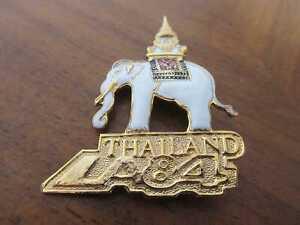Brosche Olympia Pin Los Angeles 1984 NOC THAILAND Elefant elephant Olympics vtg