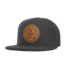 Newaza Apparel Leather Patch Trust Hat (Gray Wool) BJJ MMA Jiu-Jitsu