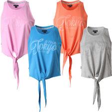 New Womens Tokyo Laundry Brooke Ladies Sleeveless Tie T-shirt Top Size 8-16