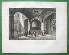 ENGLAND Interior of Westminster Abbey - 1857 Antique Print Engraving