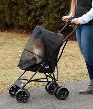 """Pet Dog Cat Lite Travel Stroller Compact Large Wheels Lightweight 38"""" Tall"""