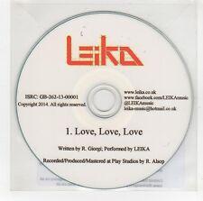(GG654) Leika, Love Love Love - 2014 DJ CD