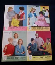 Four Vintage Knitting Leaflets, Patterns, from Woman Magazine - 1959