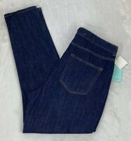 A New Day High Rise Skinny Jeans Dark Wash Fitted Hip and Thigh Stretch Size 8