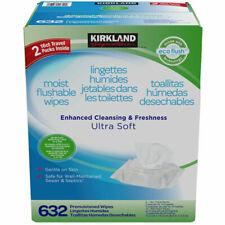 Kirkland Moist Flushable 632 Wipes Includes 2 Travel Packs