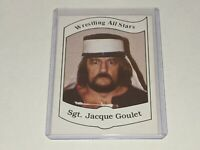 SGT. JACQUE GOULET WWF 1983 Wrestling All Stars Series A Trading Card #4 VGC