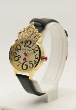 Betsey Johnson Women's Crystal Crown Yellow Gold Tone Watch BJ00663-03BX, New