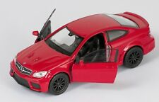 BLITZ VERSAND Mercedes Benz C63 AMG Coupe rot / red Welly Modell Auto 1:34 NEU