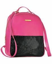 JUICY COUTURE hot pink black sequin backpack shoulder bag bookbag purse NEW