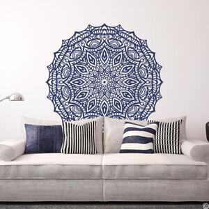 """Mandala """"The Celandine"""" Vinyl Wall or Ceiling Decal for yoga studio + more K717"""