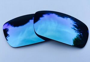 POLARIZED POWDER BLUE CUSTOM MIRRORED REPLACEMENT LENSES FOR OAKLEY GASCAN