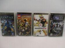 Lot Of 4 Psp Games Game Lot - Lego Indiana Jones 2, Avatar, Star Wars, Madden 11