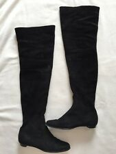 Jimmy Choo Black Suede Over Knee Boots Size 35.5