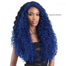 Freetress Synthetic Equal LaceFront Long Curly L Part Hair Wig Flexi Curl Braids