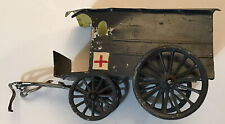 1950's Vintage Mignot Toy Soldiers Confederate Medical Wagon Tin Army Civil War