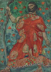 Leon Bakst Antigone Creon Giclee Art Paper Print Paintings Poster Reproduction
