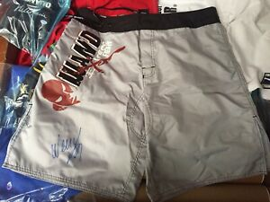 Wanderlei Silva auto signed shorts - PRIDE UFC MMA