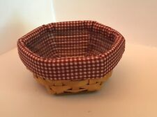 Longaberger (2001) Hexagon Shaped Basket with 2 liners