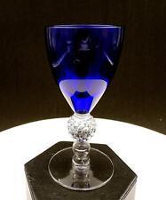 """MORGANTOWN GLASS COBALT RITZ BLUE GOLF BALL STEM 4 3/4"""" WINE GLASS 1928-1971"""