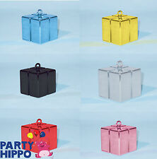 Gift Box Shaped Balloon Weights Qualatex Wedding Party Supplies Decorations